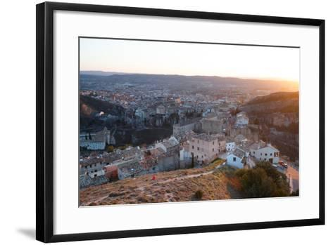 Bekah Herndon Goes For A Run At Sunset Above The Medieval Old Town Section Of Cuenca, Spain-Ben Herndon-Framed Art Print