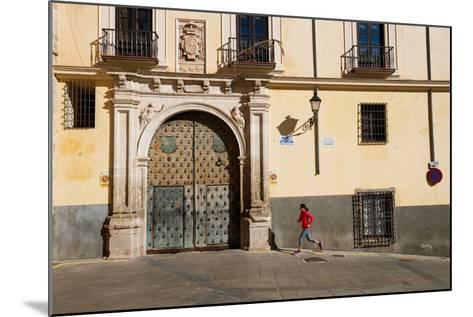 Bekah Herndon Goes For A Run In The Colorful Medieval Old Town Section Of Cuenca, Spain-Ben Herndon-Mounted Photographic Print