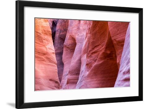 Abstract Pattern In The Sandstone Walls Of Spooky Slot Canyon. Grand Staircase-Escalante NM, Utah-Mike Cavaroc-Framed Art Print