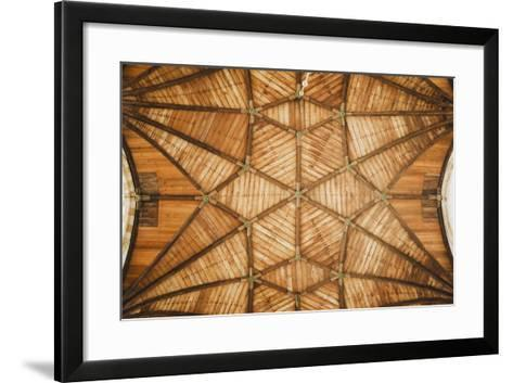 Ceiling Of St Bavo Cathedral, Haarlem, Netherlands. Built In 1520-Louis Arevalo-Framed Art Print