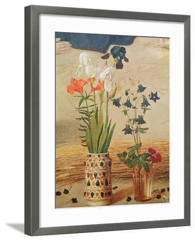 Flower Detail, From the Central Panel of the Portinari Altarpiece, c.1479-Hugo van der Goes-Framed Art Print
