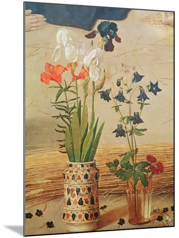 Flower Detail, From the Central Panel of the Portinari Altarpiece, c.1479-Hugo van der Goes-Mounted Giclee Print