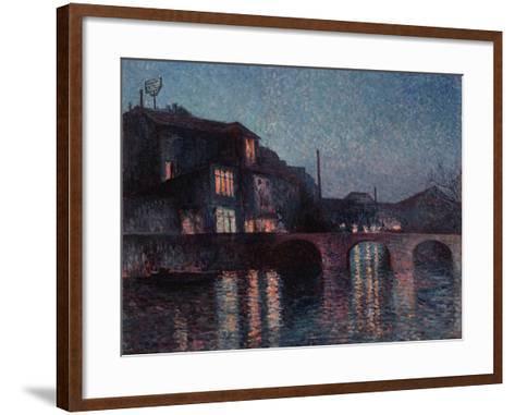 The River Sambre in Charleroi, 1896-Maximilien Luce-Framed Art Print