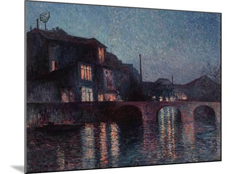 The River Sambre in Charleroi, 1896-Maximilien Luce-Mounted Giclee Print