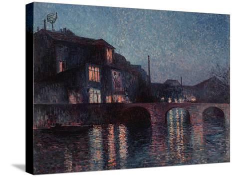 The River Sambre in Charleroi, 1896-Maximilien Luce-Stretched Canvas Print