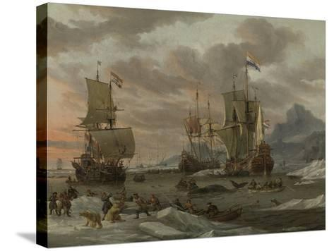 Whaling Grounds in the Arctic Ocean, 1665-Abraham Storck-Stretched Canvas Print