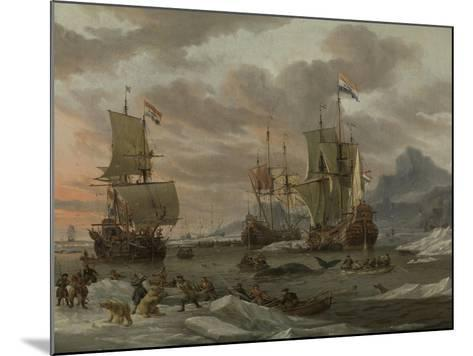 Whaling Grounds in the Arctic Ocean, 1665-Abraham Storck-Mounted Giclee Print