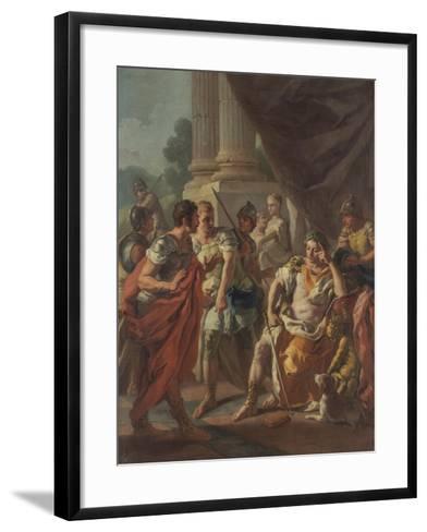 Alexander Condemning False Praise, 1760-9-Francesco de Mura-Framed Art Print