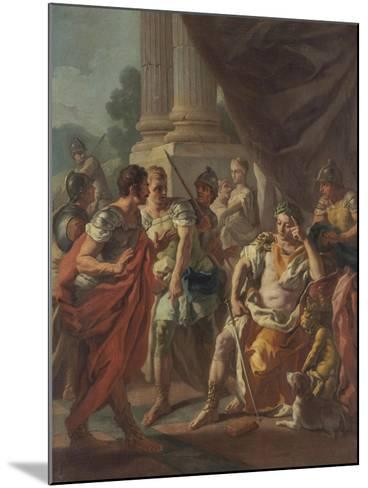Alexander Condemning False Praise, 1760-9-Francesco de Mura-Mounted Giclee Print