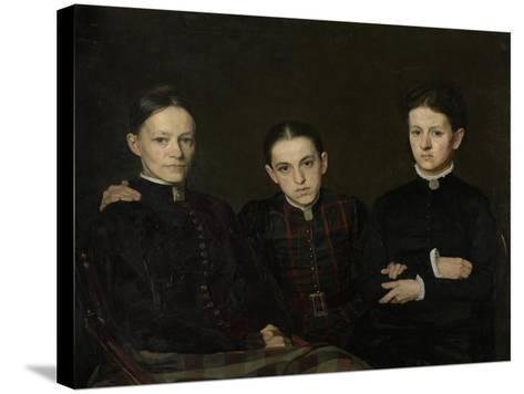 Portrait of Cornelia, Clara and Johanna Veth, 1885-Jan Pieter Veth-Stretched Canvas Print