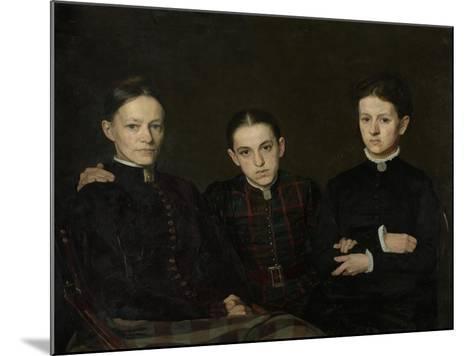 Portrait of Cornelia, Clara and Johanna Veth, 1885-Jan Pieter Veth-Mounted Giclee Print