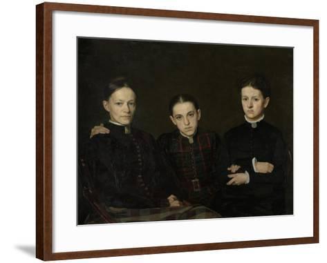 Portrait of Cornelia, Clara and Johanna Veth, 1885-Jan Pieter Veth-Framed Art Print
