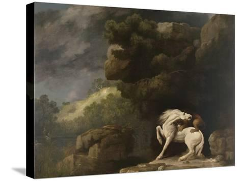 A Lion Attacking a Horse, 1770-George Stubbs-Stretched Canvas Print