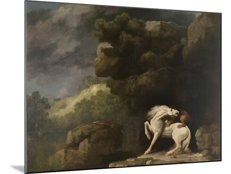 A Lion Attacking a Horse, 1770-George Stubbs-Mounted Giclee Print
