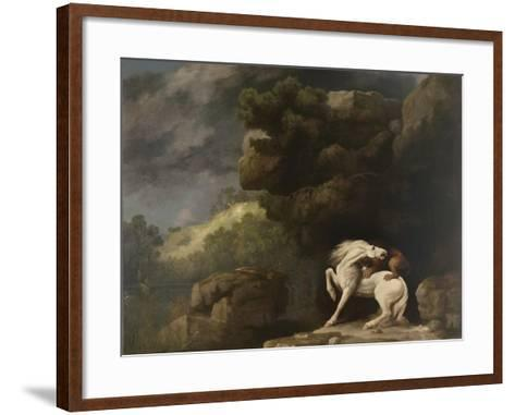 A Lion Attacking a Horse, 1770-George Stubbs-Framed Art Print