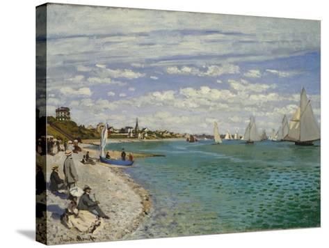 Regatta at Sainte-Adresse, 1867-Claude Monet-Stretched Canvas Print