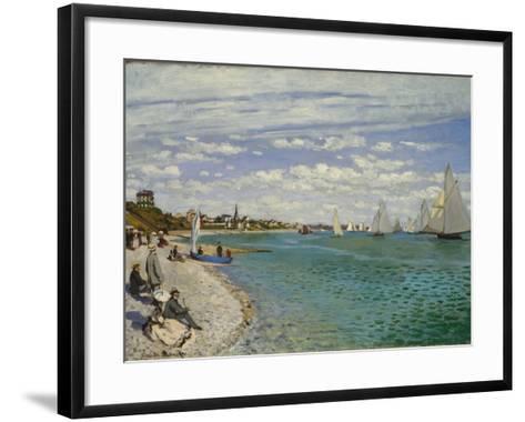 Regatta at Sainte-Adresse, 1867-Claude Monet-Framed Art Print