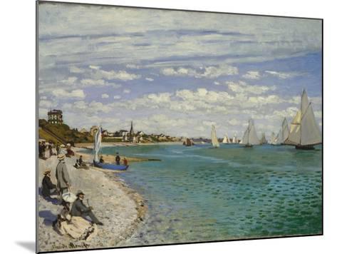 Regatta at Sainte-Adresse, 1867-Claude Monet-Mounted Giclee Print