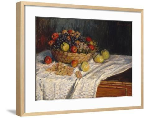 Apples and Grapes, 1879–80-Claude Monet-Framed Art Print