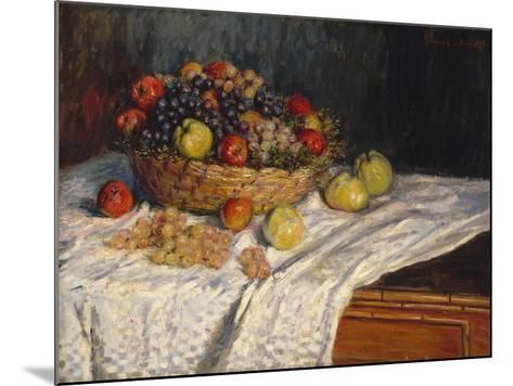 Apples and Grapes, 1879–80-Claude Monet-Mounted Giclee Print
