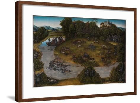 The Stag Hunt of the Elector Frederick the Wise, c.1530-Lucas, The Elder Cranach-Framed Art Print