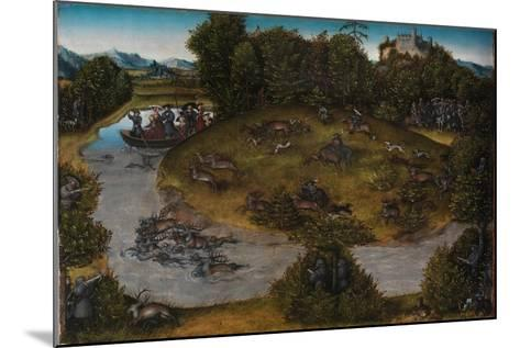 The Stag Hunt of the Elector Frederick the Wise, c.1530-Lucas, The Elder Cranach-Mounted Giclee Print