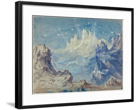Fantastic Mountainous Landscape with a Starry Sky-Robert Caney-Framed Art Print