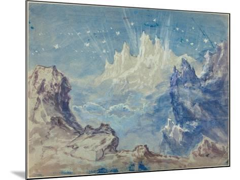 Fantastic Mountainous Landscape with a Starry Sky-Robert Caney-Mounted Giclee Print