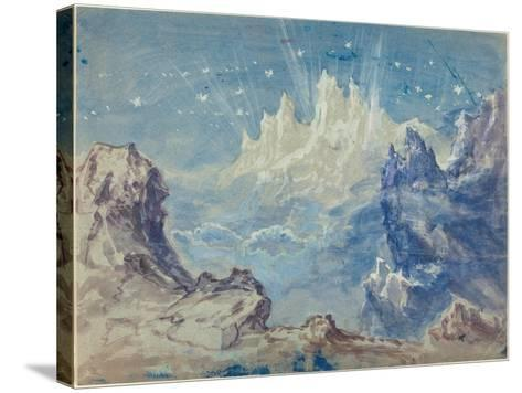 Fantastic Mountainous Landscape with a Starry Sky-Robert Caney-Stretched Canvas Print