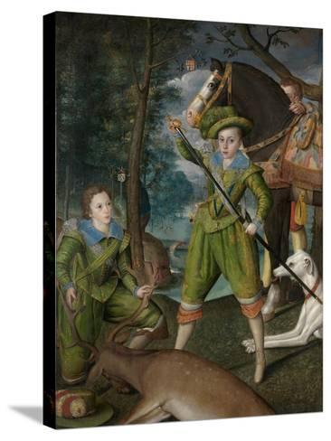 Henry Frederick, Prince of Wales, with Sir John Harington in the Hunting Field, 1603-Robert, the Elder Peake-Stretched Canvas Print