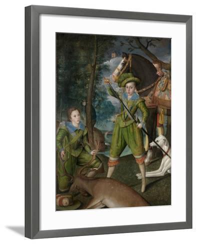 Henry Frederick, Prince of Wales, with Sir John Harington in the Hunting Field, 1603-Robert, the Elder Peake-Framed Art Print
