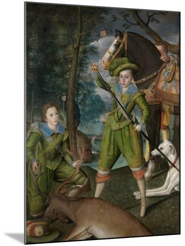 Henry Frederick, Prince of Wales, with Sir John Harington in the Hunting Field, 1603-Robert, the Elder Peake-Mounted Giclee Print