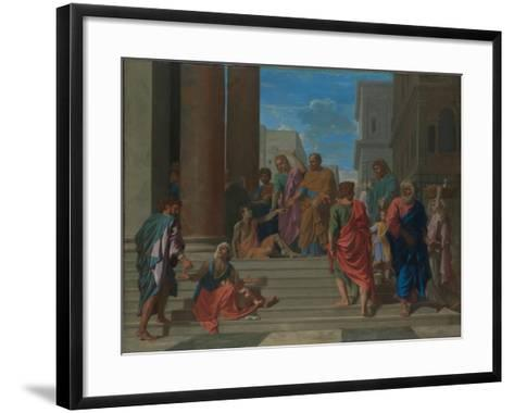 Saints Peter and John Healing the Lame Man, 1655-Nicolas Poussin-Framed Art Print