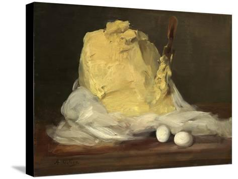 Mound of Butter, 1875-85-Antoine Vollon-Stretched Canvas Print