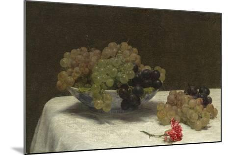 Still Life with Grapes and a Carnation, c.1880-Ignace Henri Jean Fantin-Latour-Mounted Giclee Print