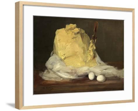 Mound of Butter, 1875-85-Antoine Vollon-Framed Art Print