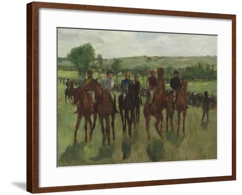The Riders, c.1885-Edgar Degas-Framed Art Print