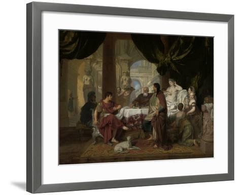 Cleopatra's Banquet, c.1675-80-Gerard De Lairesse-Framed Art Print