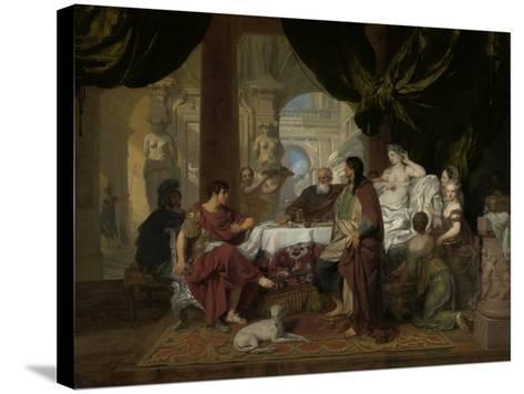 Cleopatra's Banquet, c.1675-80-Gerard De Lairesse-Stretched Canvas Print