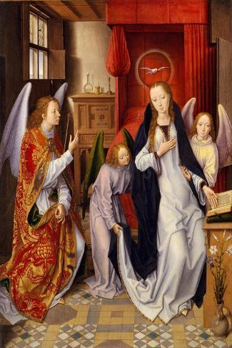 The Annunciation, 1480-89-Hans Memling-Stretched Canvas Print