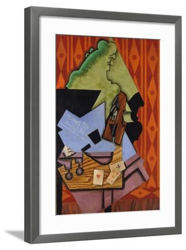 Violin and Playing Cards on a Table, 1913-Juan Gris-Framed Art Print