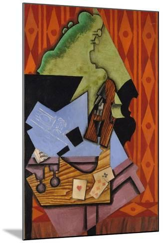 Violin and Playing Cards on a Table, 1913-Juan Gris-Mounted Giclee Print