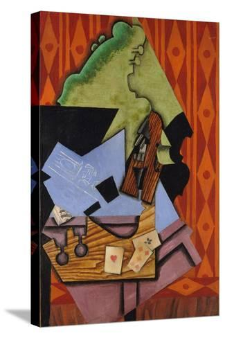 Violin and Playing Cards on a Table, 1913-Juan Gris-Stretched Canvas Print