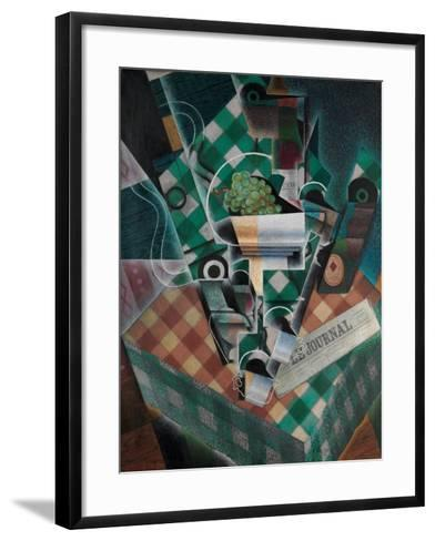 Still Life with Checked Tablecloth, 1915-Juan Gris-Framed Art Print