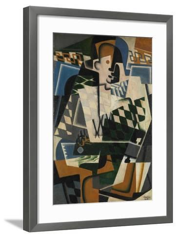 Harlequin with a Guitar, 1917-Juan Gris-Framed Art Print