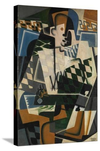 Harlequin with a Guitar, 1917-Juan Gris-Stretched Canvas Print