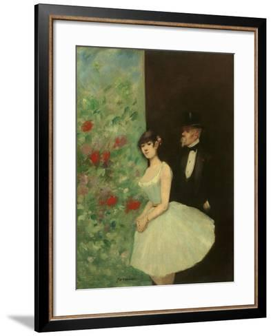 Behind the Scenes, c.1880-Jean Louis Forain-Framed Art Print