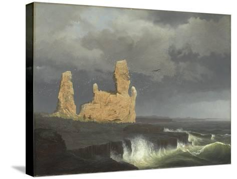 The Icelandic Coast, 1889-Johann Christian Ezdorf-Stretched Canvas Print