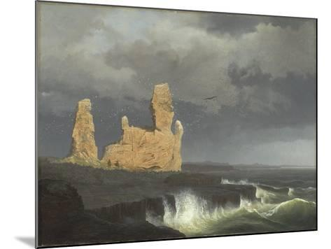 The Icelandic Coast, 1889-Johann Christian Ezdorf-Mounted Giclee Print