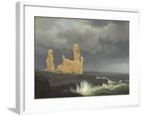 The Icelandic Coast, 1889-Johann Christian Ezdorf-Framed Art Print